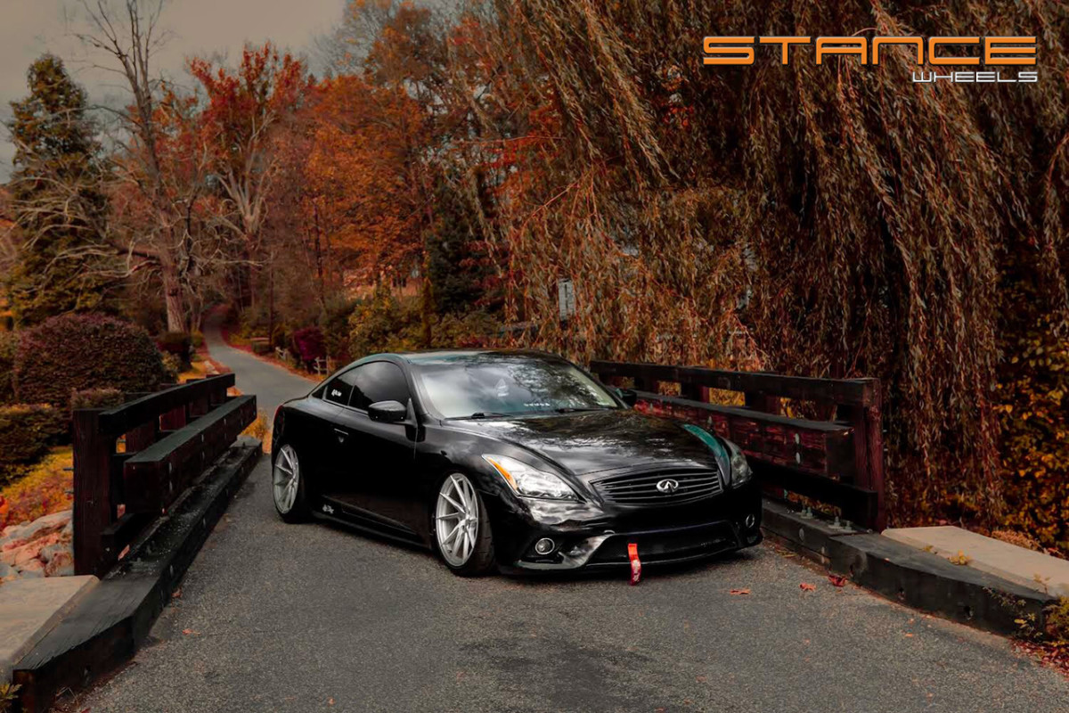Infiniti G37s Stance Sf01 Brushed Silver Stance Wheels
