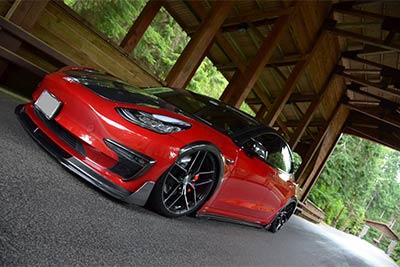 Tesla Model 3   Stance SF03 Gloss Black Tinted Face